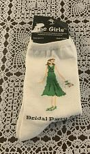 Buy Brand New Pair Of The Girls Bridal Party Girl Crew Socks Ladies Size 9 to 11