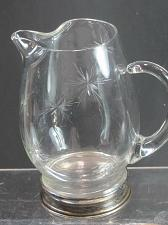 Buy Wallace sterling hand cut glass wheel cut pitcher