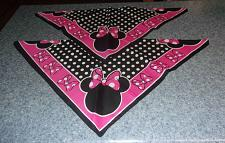 Buy Two Brand New Minnie Mouse Design Dog Bandanas For Cocker Spaniel Rescue Charity