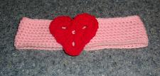 Buy Brand New Crocheted Pink and Red Heart Dog Collar LARGE 4 Dog Rescue Charity