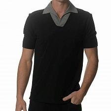 Buy Kit and Ace Black Crossover Polo Shirt