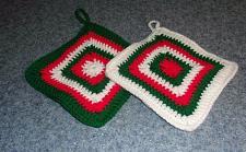 Buy Brand New Hand Crocheted Christmas Potholder Set For Dog Rescue Charity