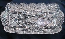 """Buy ABP American Brilliant Period Cut Glass Rectangle tray Antique 14"""""""