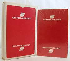 Buy Playing Cards United Airlines Red Advertising Sealed Vintage