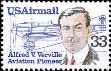 Buy 1985 33c Alfred Verville, Aircraft Designer, Airmail Scott C113 Mint F/VF NH