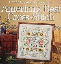 Buy 1988 Better Homes Americas Best Cross Stitch Book Patterns Graphs For Charity