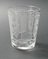 Buy Westmoreland engraved Rose etched cut shot glass