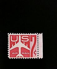 Buy 1959 7c Jet Silhouette, Air Mail, Carmine Scott C60 Mint F/VF NH