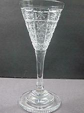 Buy Cut glass sherry stemware Hand cut stepped foot