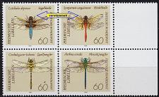 Buy GERMANY BUND [1991] MiNr 1546-49 F19 F20 4er ( **/mnh ) Tiere Plattenfehler