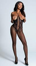 Buy Open Cup Bodystocking - Black - One Size & Plus Size