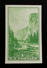 Buy 1935 1c Yosemite, Imperforate Single Stamp issued without gum Scott 756 Mint NH