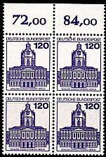 Buy GERMANY BUND [1982] MiNr 1141 4er ( **/mnh ) [01] Bauwerke O-Rand 4er