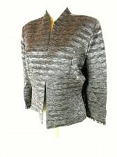 Buy KM Collections Milla Bell Women's 10 Gray Textured Beads Lined Open Jacket (O)