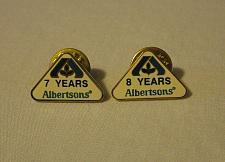 Buy Albertsons Grocery Store 7 & 8 Year Company Service Employee Award Pins