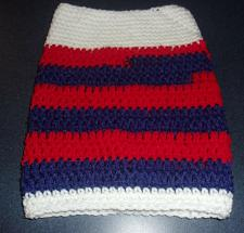Buy Brand New Hand Crocheted Patriotic Red White Blue Dog Snood Neck Warmer Charity