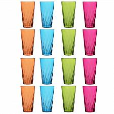 Buy Palmetto 20-ounce Plastic Tumblers   set of 16 in 4 Assorted Colors