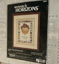 Buy New MIP Monarch Horizons Counted Cross Stitch Kit CS54 Flying High Birth Record