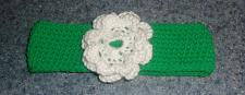Buy Brand New Crocheted Green Flower Design Dog Collar LARGE For Dog Rescue Charity