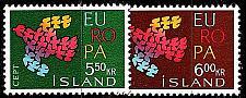 Buy ISLAND ICELAND [1961] MiNr 0354-55 ( **/mnh ) CEPT