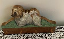 Buy Brand New Wood Lark Old English Sheepdog Wooden Leash Holder Dog Rescue Charity