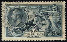 Buy Great Britain #224 Britannia and Seahorses; Used (1Stars) |GBR0224-01XDP