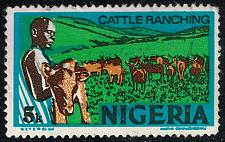 Buy Nigeria #294c Cattle Ranching; Used (3Stars) |NGA0294c-04