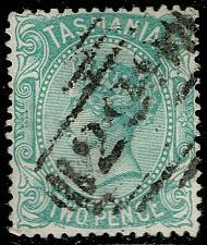 Buy Australia-Tasmania #61 Queen Victoria; Used (2Stars) |TAS061-01