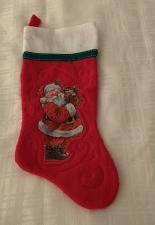 Buy Red Cat and Santa Christmas Stocking 1983 Giordano Arts For Dog Rescue Charity
