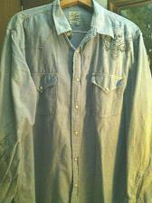 Buy Lucky Brand Western Blue Graphic Scull Logo Design Shirt