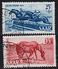 Buy GERMANY Saar [1949] MiNr 0265-66 ( O/used )