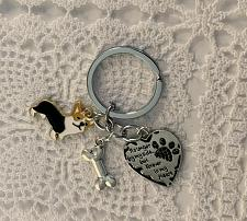 Buy Brand New Black Tan White Tri Corgi Metal Charms Keychain No Longer By My Side