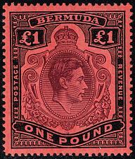 Buy Bermuda #128b King George VI; Unused (4Stars) |BER0128b-02XVK