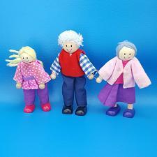 Buy Melissa And Doug Wooden Dollhouse Flexible Figures Grandpa Grandma Sister Family