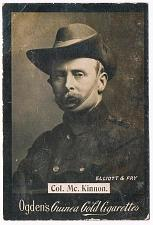 Buy Ogden's Guinea Gold Cigarettes Tobacco Card Col. Mc. Kinnon Elliott Fry Vintage