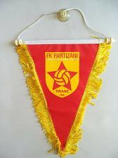 Buy Tirana Football Soccer Flag Pennants from Albania. KF Tirana or FK Partizani