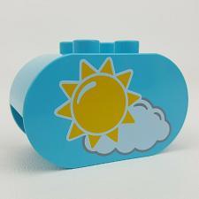 Buy Lego Duplo 10819 First Garden Replacement Sun Sunshine Rain Cloud Pattern Brick