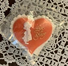 Buy Brand New Vintage American Greetings Love Is Sharing Valentines Day Pin Charity