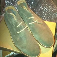Buy Lucky Brand Men's Chukka Boots Size 11 M Lunn Moss New