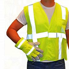 Buy Westchester Protective Gear Hi-Vis Green Safety Vest and Gloves