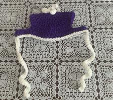 Buy Brand New Crocheted Purple White Dog Hat MEDIUM Dogs For Dog Rescue Charity