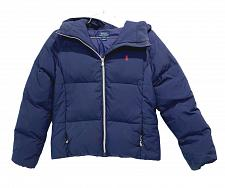 Buy Polo Ralph Lauren Girls Jacket Puffer Down Feather Hooded size L 12-14 navy