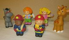 Buy lot of 6 FISHER PRICE little PEOPLE & 2 Sarah Lynn doll figures