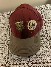 Buy Crest Platform Harry Potter Hogwarts 9 3/4 Adjustable Hat Maroon Faux Leather