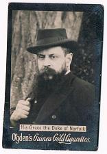 Buy Ogden's Guinea Gold Cigarettes Tobacco Card His Grace Duke Of Norfolk