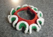 Buy Brand New Crocheted Red White Green Christmas Scrunchie Dog Decorative Collar