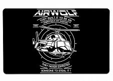"""Buy Air Wolf Large Mouse Pad 10"""" x 16"""" Mat Placemat Pop Culture Inspired Nerdy Geeky"""