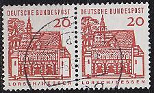 Buy GERMANY BUND [1964] MiNr 0456 2er ( O/used ) Bauwerke