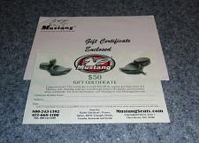 Buy Kipp Brothers Mustang Motorcycle Seats $50 Gift Certificate 4 Dog Rescue Charity