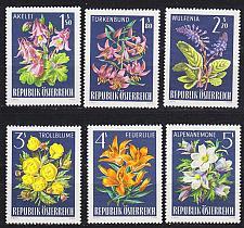 Buy ÖSTERREICH AUSTRIA [1966] MiNr 1209-14 ( **/mnh ) Blumen